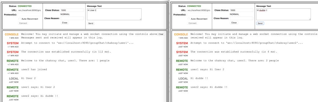 Websocket Server Broadcast